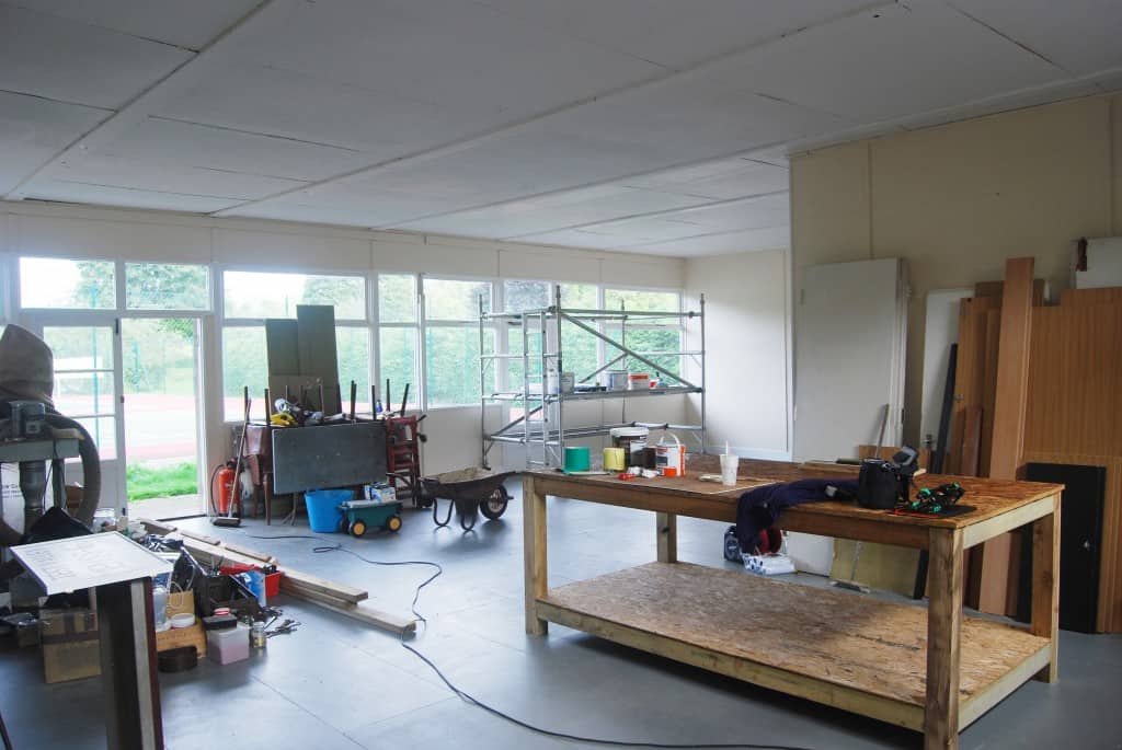 Men's Shed main workshop area