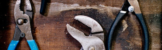 men's shed tools on a wall